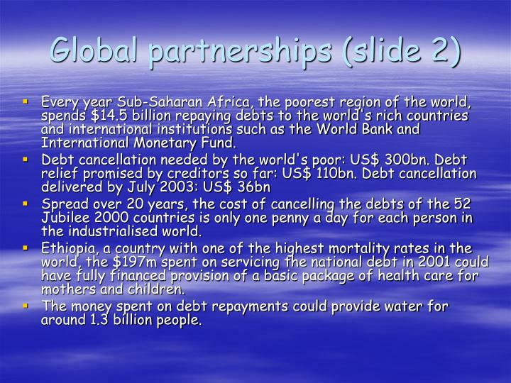 Global partnerships (slide 2)