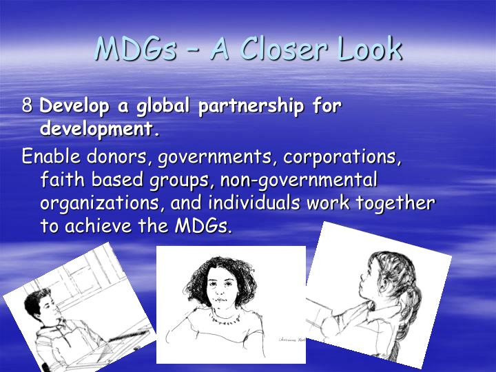 MDGs – A Closer Look