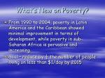 what s new on poverty