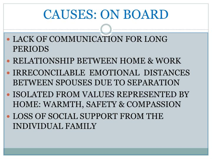 CAUSES: ON BOARD