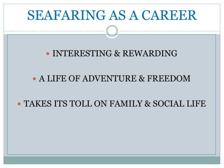 Seafaring as a career