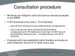 consultation procedure