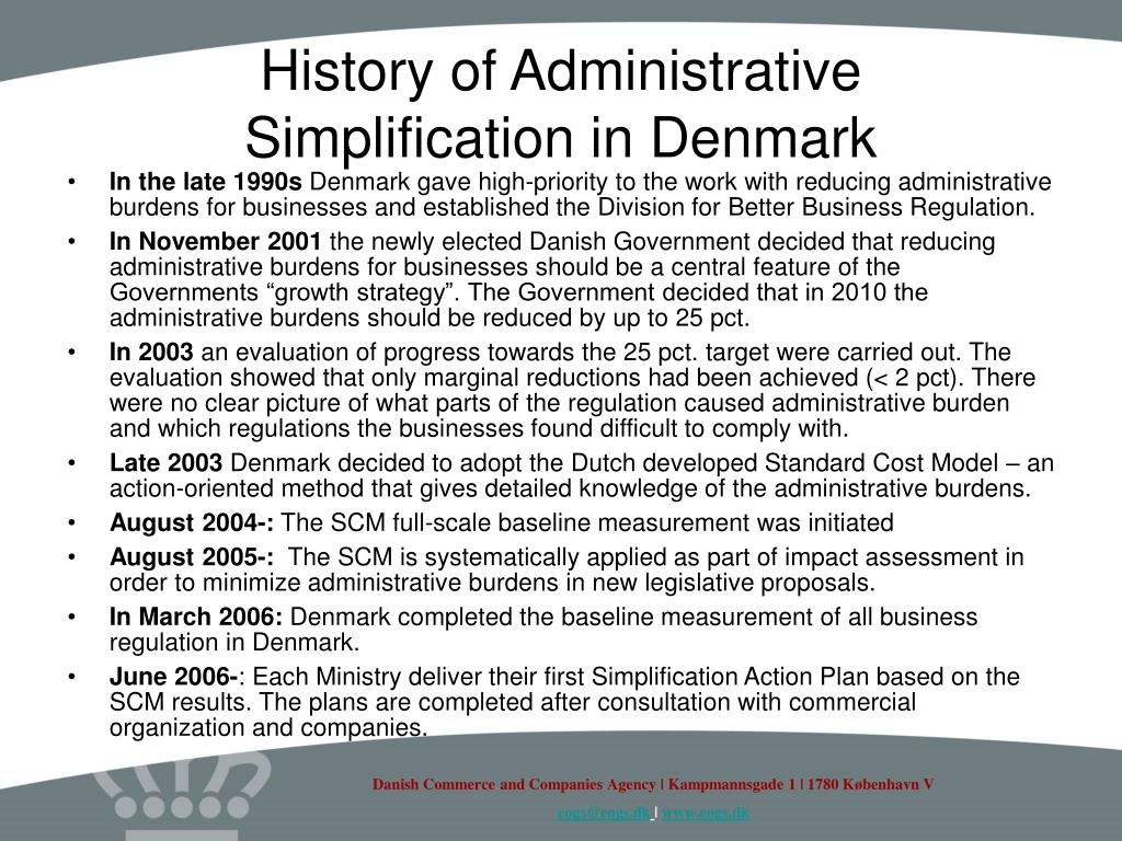 History of Administrative