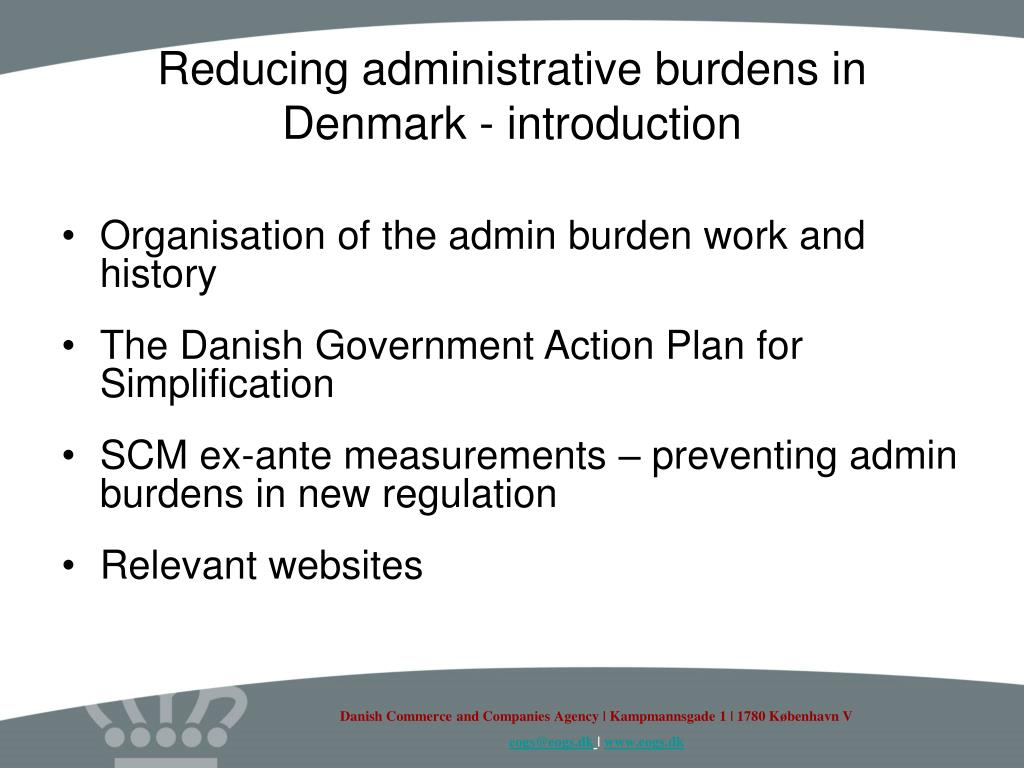 Reducing administrative burdens in Denmark - introduction