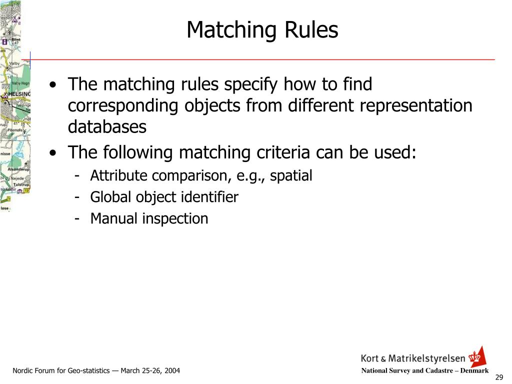 Matching Rules
