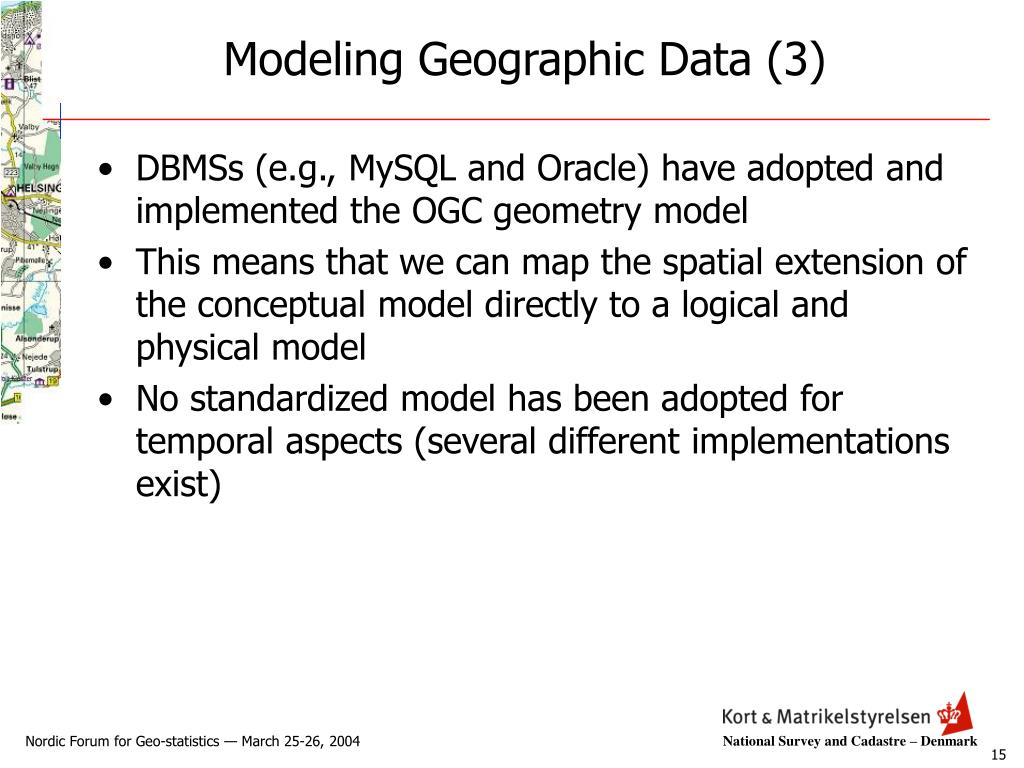 Modeling Geographic Data (3)