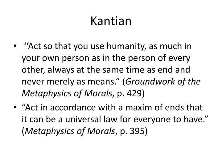 Kantian