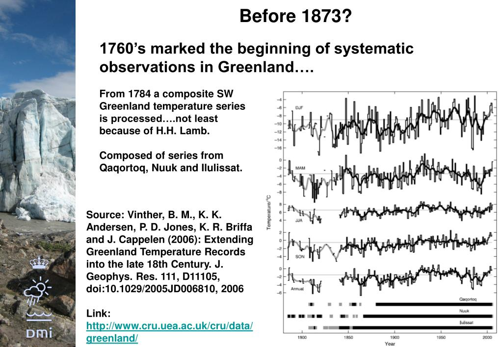 1760's marked the beginning of systematic observations in Greenland….