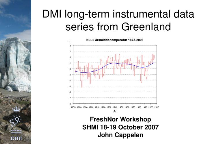 Dmi long term instrumental data series from greenland