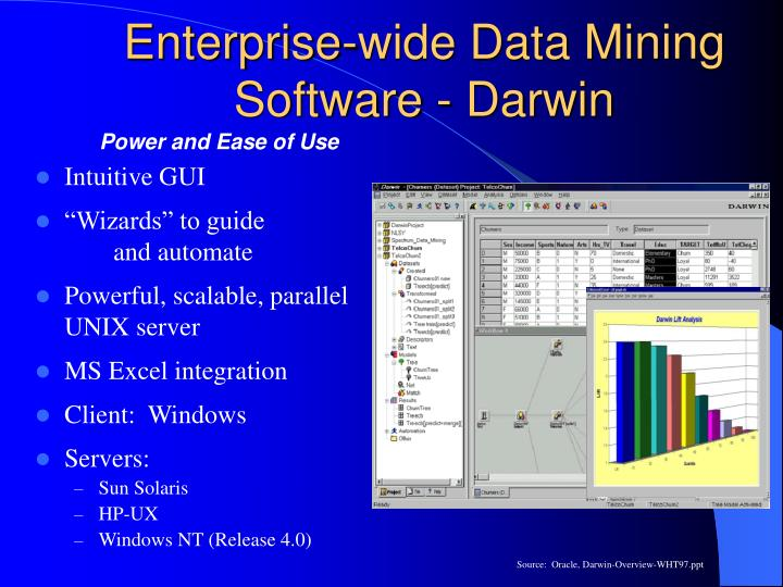 Enterprise-wide Data Mining Software - Darwin