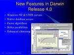 new features in darwin release 4 0