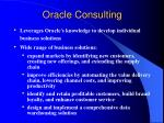 oracle consulting