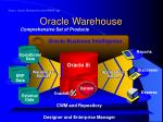 oracle warehouse