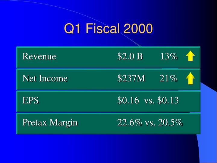 Q1 Fiscal 2000