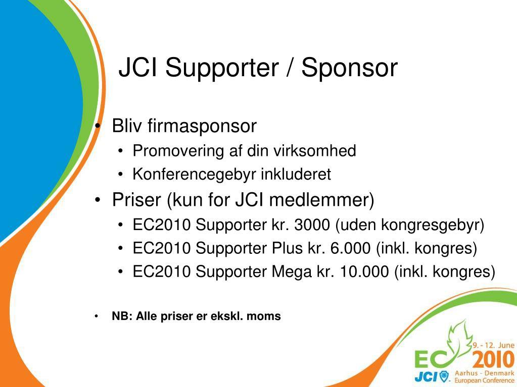 JCI Supporter / Sponsor