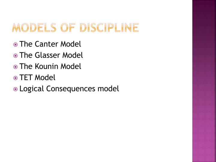 Models of discipline