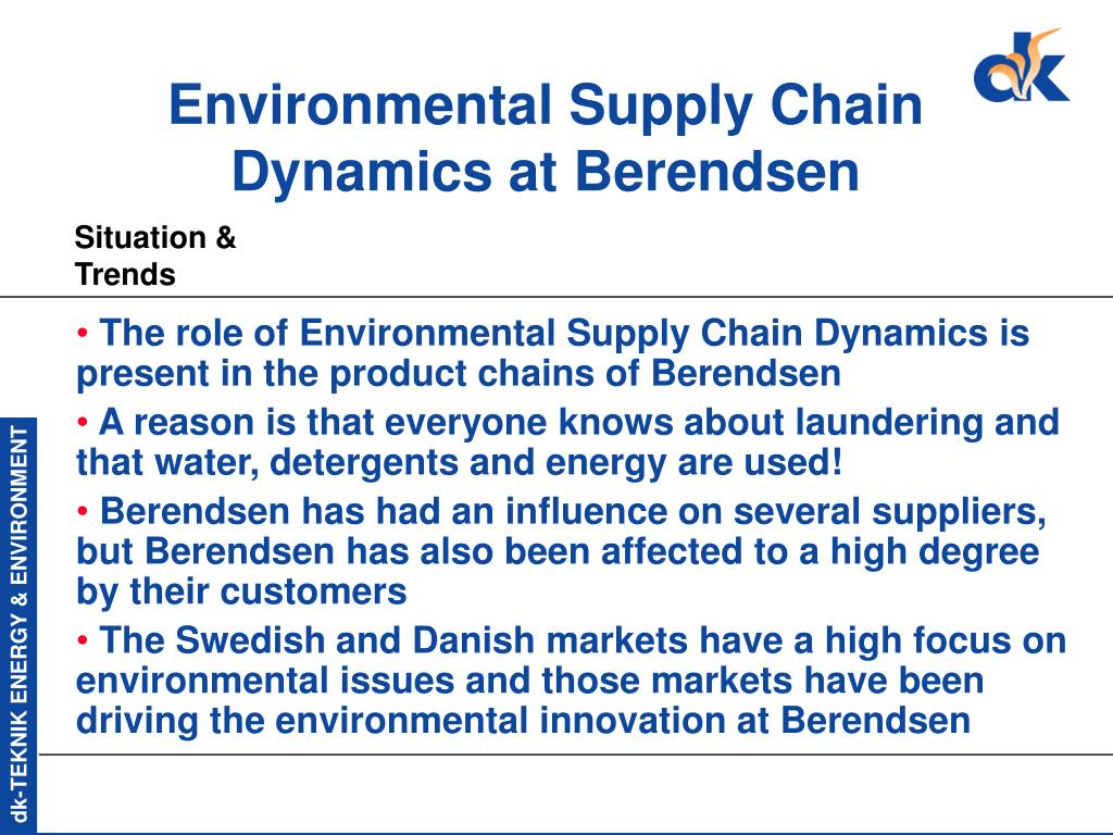 Environmental Supply Chain Dynamics at Berendsen