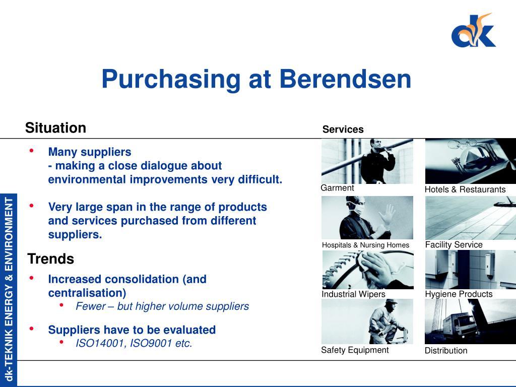 Purchasing at Berendsen