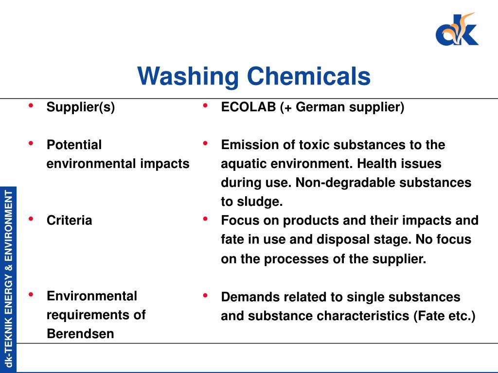Washing Chemicals