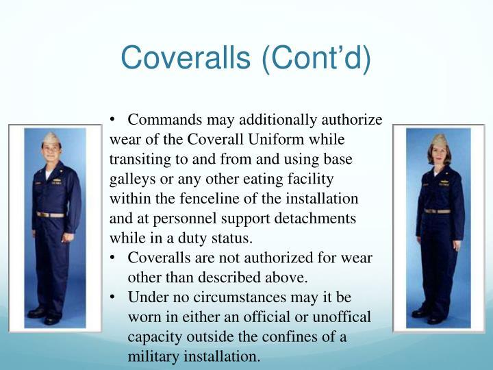 Coveralls (Cont