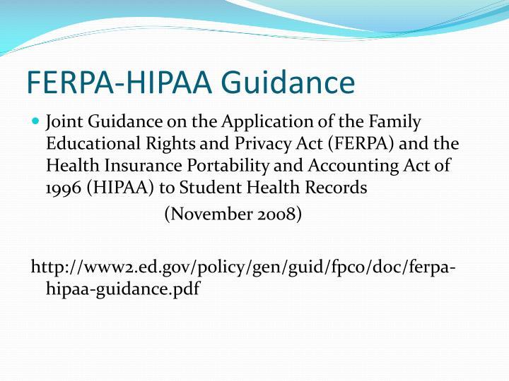 FERPA-HIPAA Guidance