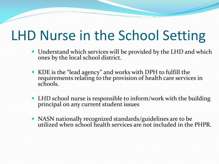 LHD Nurse in the School Setting