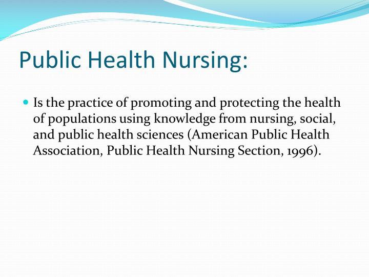 Public Health Nursing: