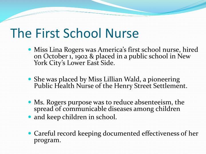 The First School Nurse