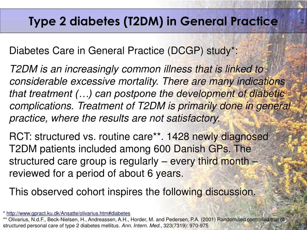 Type 2 diabetes (T2DM) in General Practice