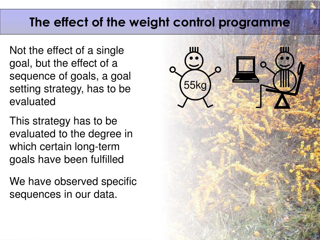 The effect of the weight control programme