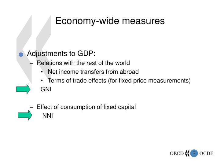 Economy-wide measures