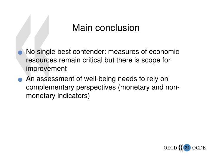 Main conclusion