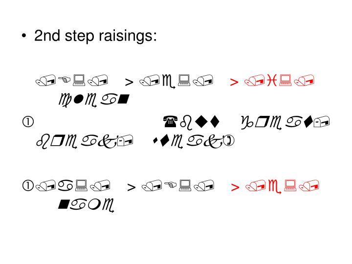 2nd step raisings:
