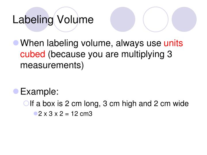 Labeling Volume