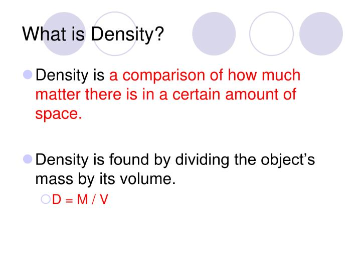 What is Density?