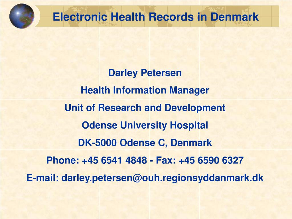 Electronic Health Records in Denmark