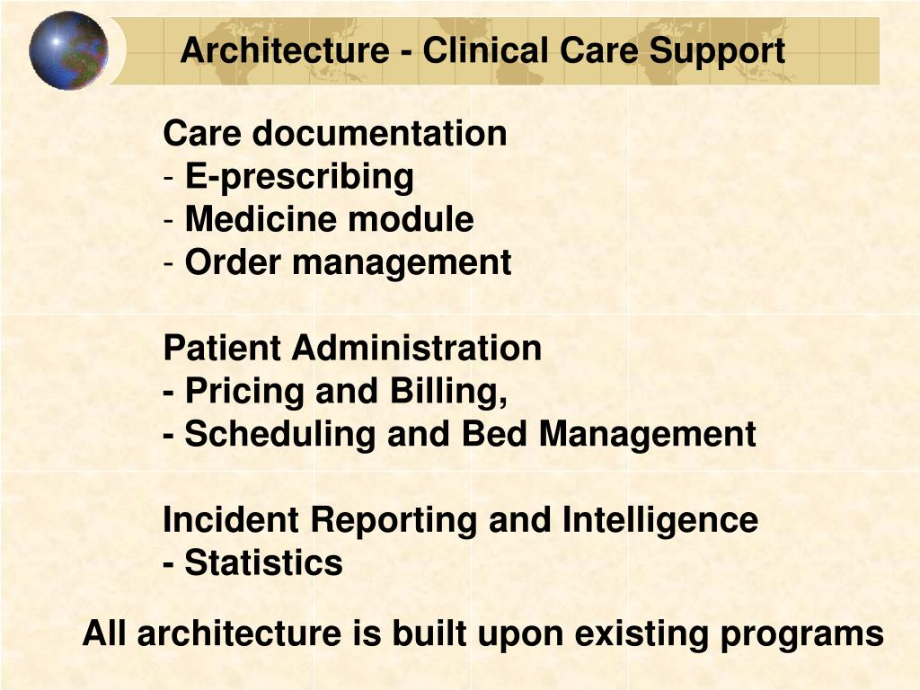 Architecture - Clinical Care Support