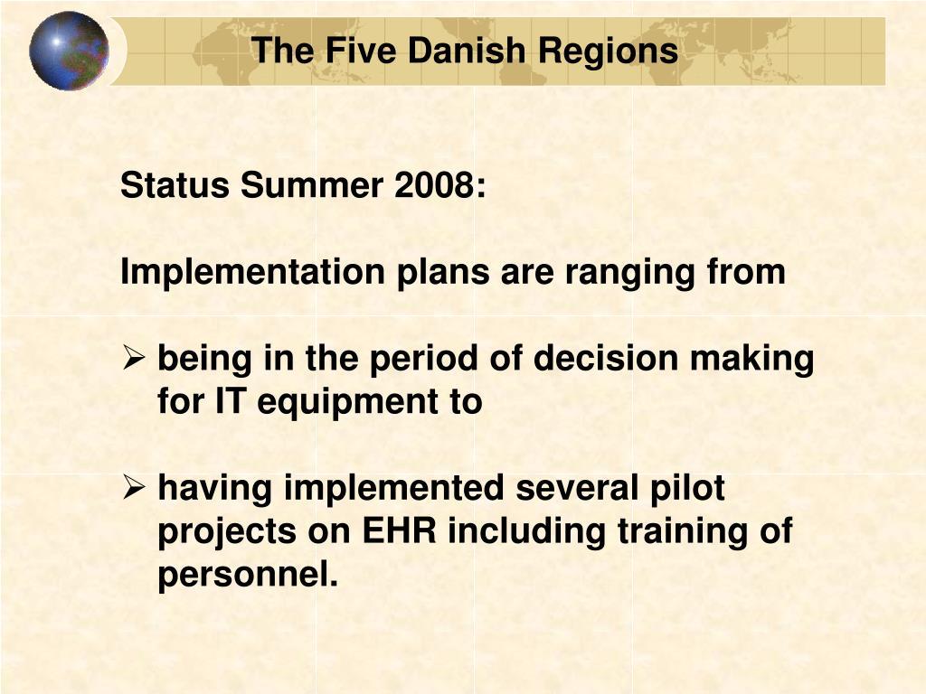 The Five Danish Regions