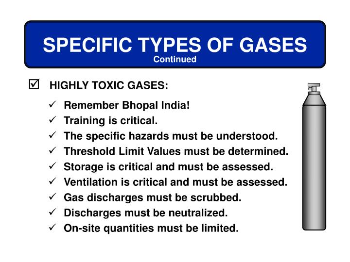 HIGHLY TOXIC GASES: