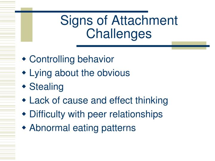 Signs of Attachment Challenges