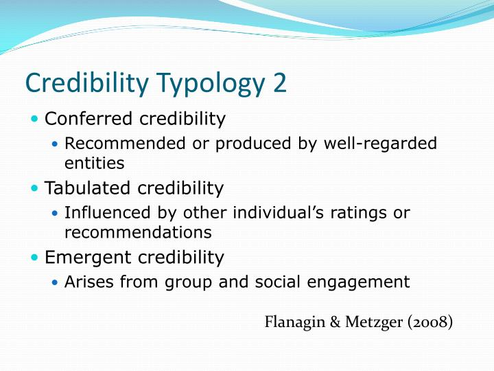 Credibility Typology 2
