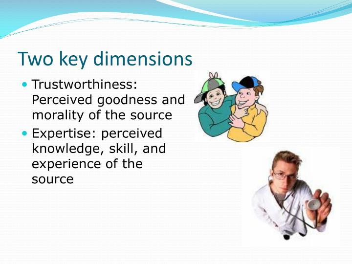 Two key dimensions