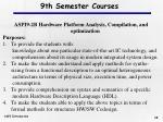 9th semester courses28