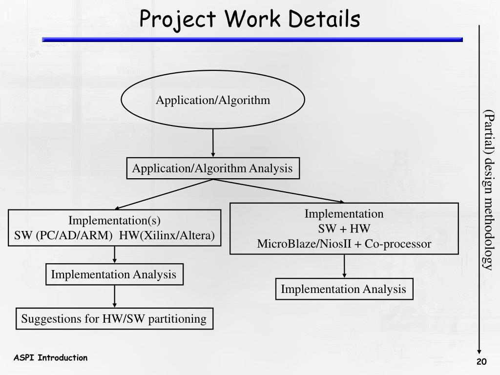 Project Work Details