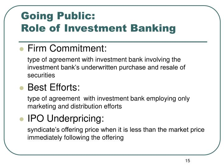 Types Of Underwriting Commitments