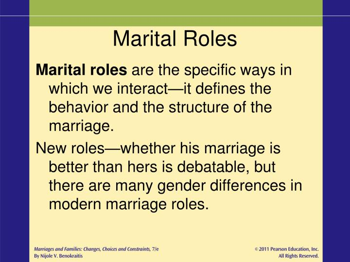 marriage and gender roles