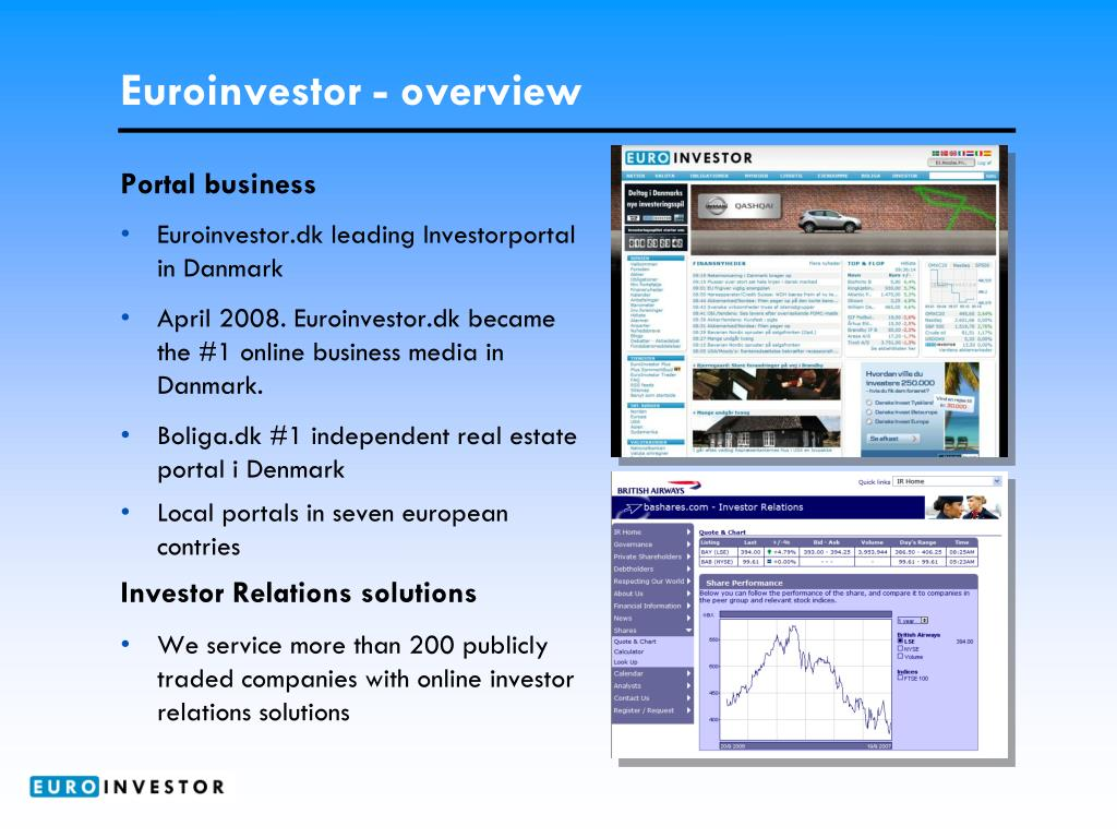 Euroinvestor - overview