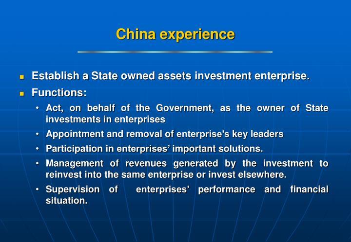 China experience