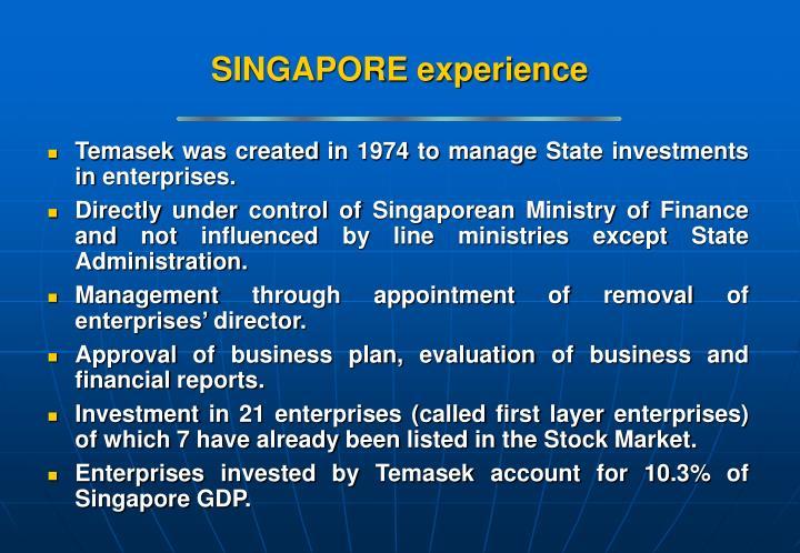 SINGAPORE experience