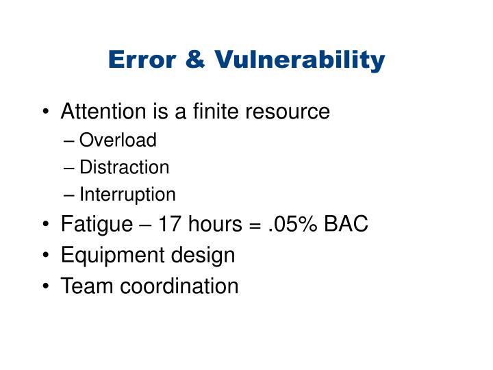 Error & Vulnerability